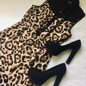 Cheetah Button Up Dress
